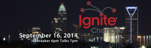 City of Charlotte Nightscape w/Ignite Charlotte logo and 2014 date